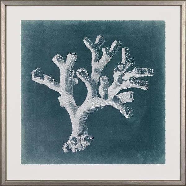 Azure Coral Framed Art Print