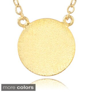 Journee Collection Sterling Silver Circle Pendant