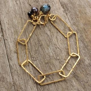 Gold Plated 'Modern Extravagance' Labradorite Bracelet (Thailand)