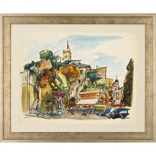 Parisian Watercolors Framed Art Print