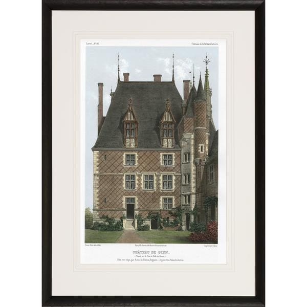 Chateaux of the Loire Valley Castle Framed Art Print