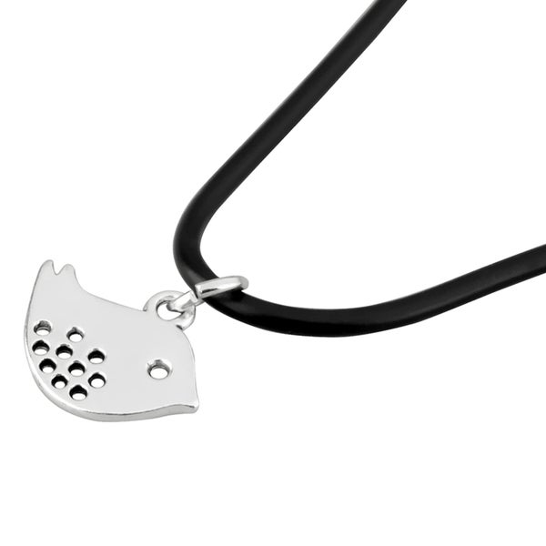 Zodaca Pattern Design Style Leather Cord Silver Plated Pendant Necklace