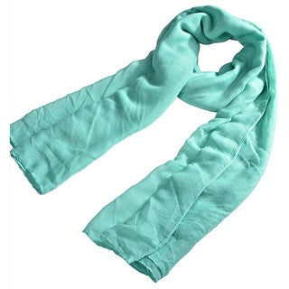 INSTEN Warm Sweet Candy Color Plain Cotton Pure Color Scarf