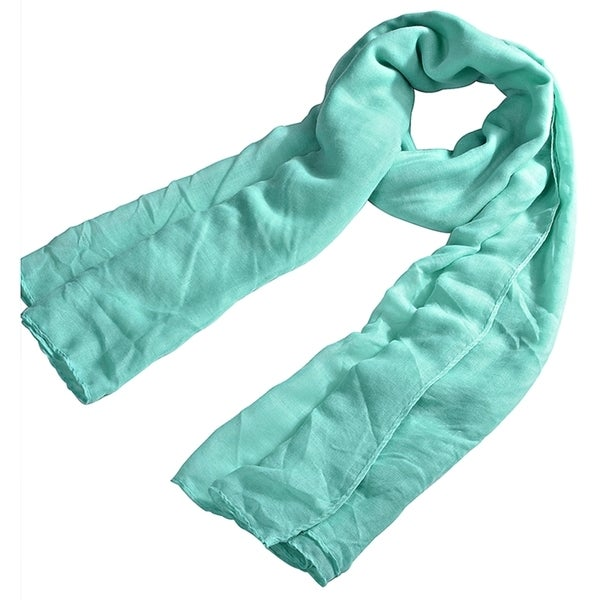 Zodaca Trandy Warm Sweet Candy Color Lightweight Plain Cotton Pure Women's Scarf