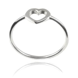 Journee Collection Children's Sterling Silver Heart Ring