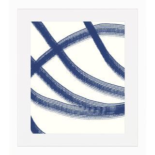 Blue Lines Framed Art Print