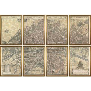 Plan de Paris Framed Art Print