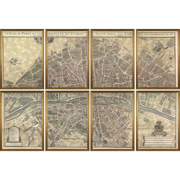Plan de Paris Framed Art Print