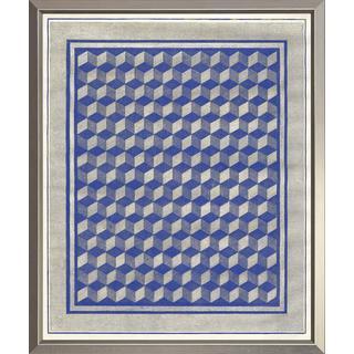 Blue Illusions Framed Art Print