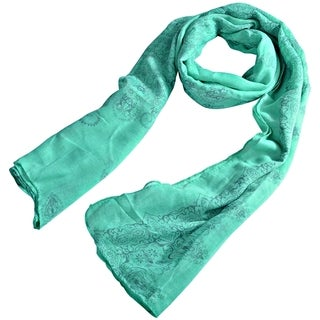 Zodaca Warm Pattern Design Style Voile and Linen Printed Scarf