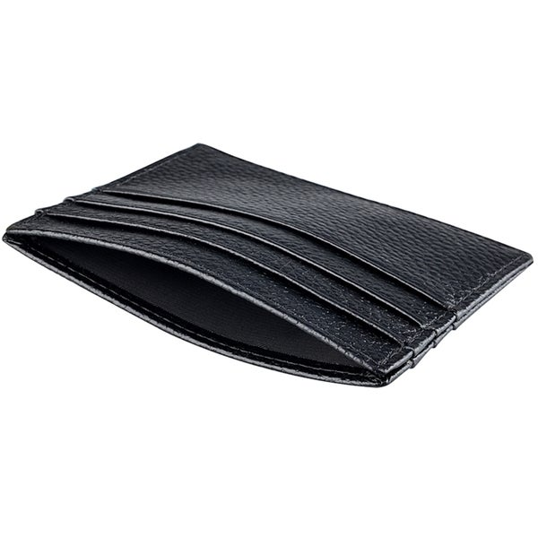 Zodaca Black Premium 100% Genuine Leather Slim Business Credit Card Holder Wallet