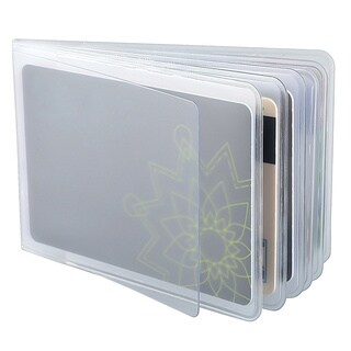 Zodaca PVC Detachable Business Name Credit Card Holder