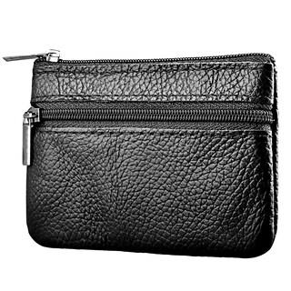 INSTEN 2 Zippered Premium 100% Genuine Leather Multi-Purpose Wallet Coin Bag