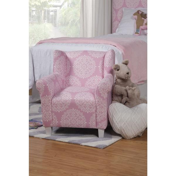 HomePop Kids' Pink Medallion Print Chair