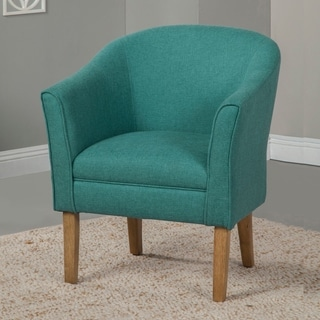 HomePop Teal Chunky Textured Accent Chair