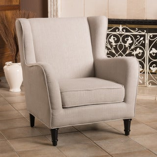 Christopher Knight Home Turnberry Natural Fabric Wing Chair