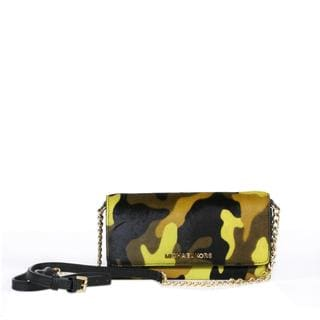 MICHAEL Michael Kors Jet Set Travel Camo Haircalf Wallet on Chain