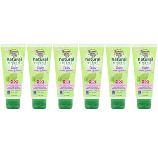 Banana Boat Natural Reflect Baby 4-ounce Sunscreen Lotion SPF 50 (Pack of 6)