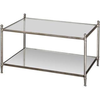 Uttermost Gannon Mirored Glass Coffee Table