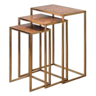 Uttermost Copres Oxidized Nesting Tables (Set of 3)