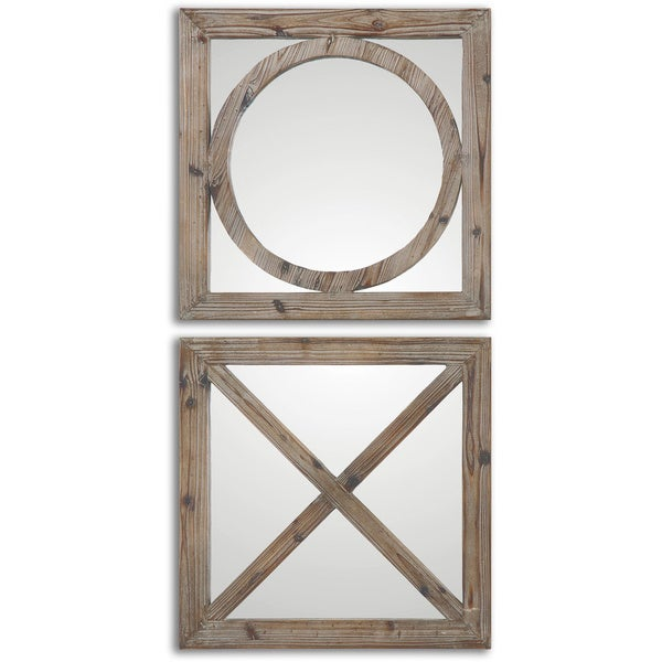 Uttermost Baci E Abbracci Wooden Mirrors (Set of 2)