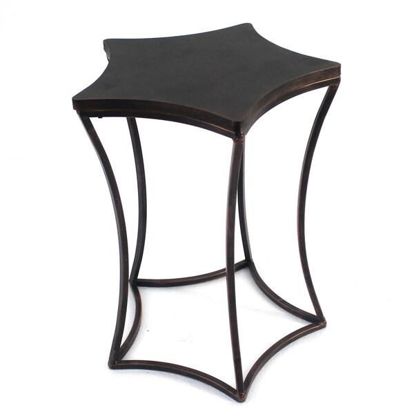 Asymmetrical Metal Side Table