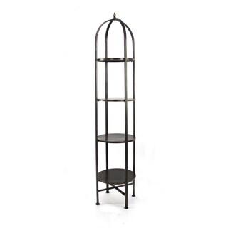 Black 6-tier Metal Shelf