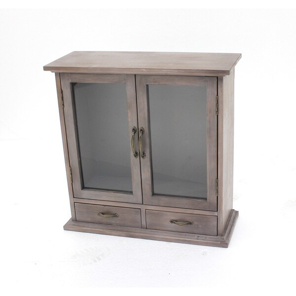 Brown Wood Wall Cabinet
