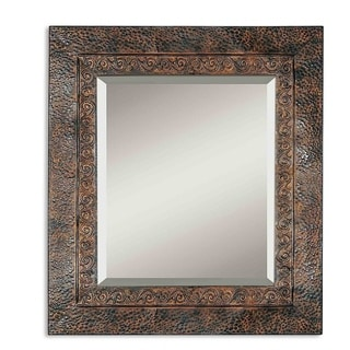 Jackson Rustic Metal Wall Mirror