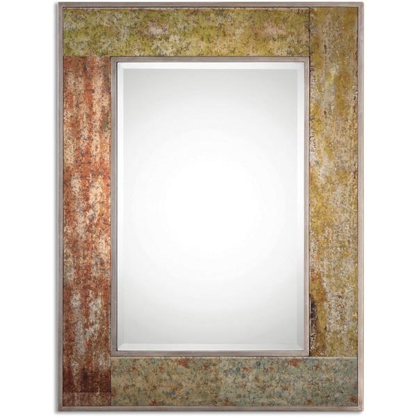 Uttermost Romy Rust Bevelled Mirror
