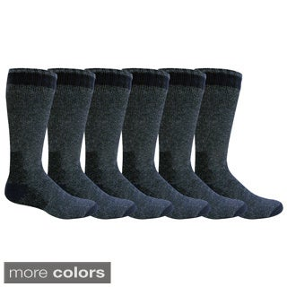 Sierra Club Men's Wool Heavy Boot Socks (Pack of 6)