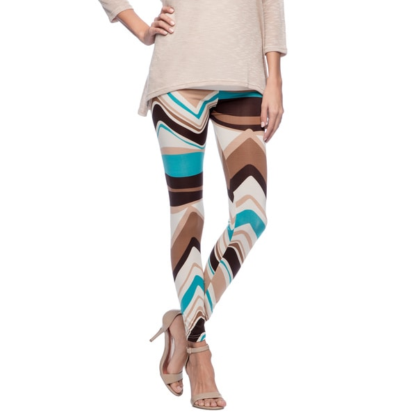 Ladies Multicolor Chevrons Leggings