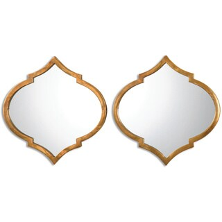 Uttermost Jebel Antique Gold Decorative Wall Mirrors (Set of 2)