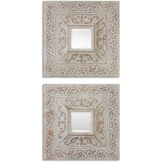 Uttermost Katell Metal Square Decortive Wall Mirrors (Set of 2)