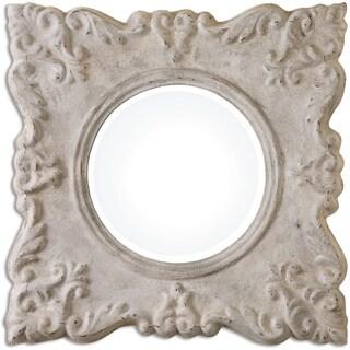 Uttermost Cautano Gray/ Ivory Decorative Square Mirror