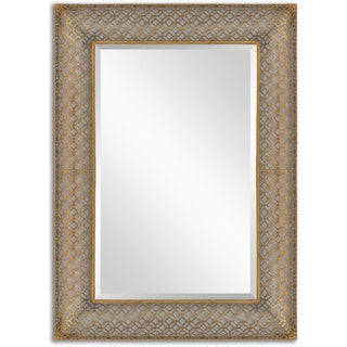 Uttermost Ariston Stamped Rectangle Metal Wall Mirror