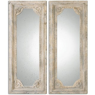 Uttermost Rapallo Aged Ivory Decorative Wall Mirrors (Set of 2)