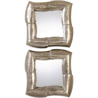 Alayka Metal Decorative Wall Mirrors (Set of 2)