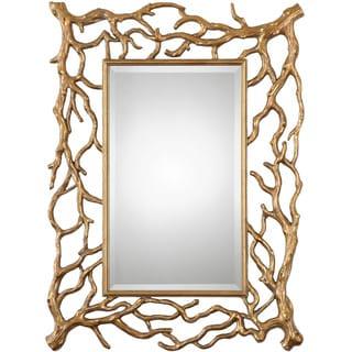 Uttermost Sequoia Gold Tree Branch Decorative Mirror
