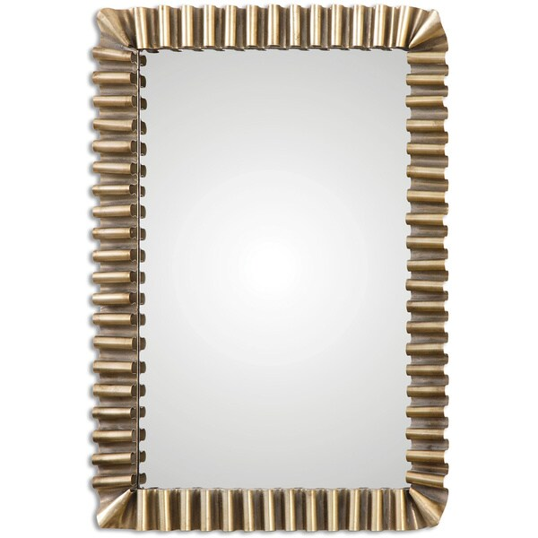 Uttermost Sori Scalloped Metal Mirror