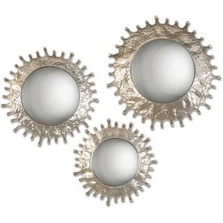 Uttermost Rain Splash Round Mirrors (Set of 3)