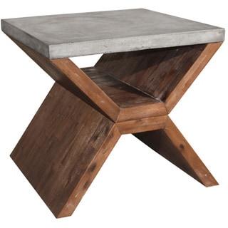 Sunpan Vixen Brown End Table