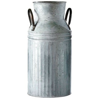 12.5-inch Antiqued Galvanized Milk Can (Pack of 4)