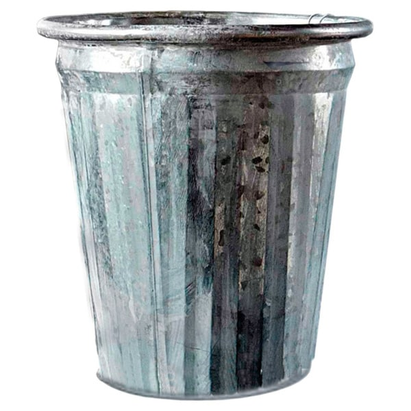 8-inch Antiqued Galvanized Bucket (Pack of 6)