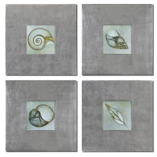 Uttermost Neptune's Garden Framed Print Art (Set of 4)