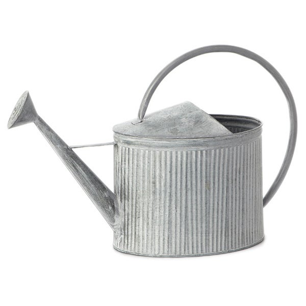 23-inch x 16-inch Fluted Galvanized Watering Can (Pack of 2)