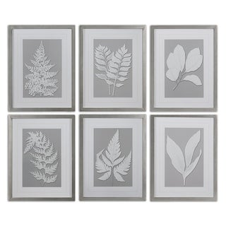 Uttermost 'Moonlight Ferns' Framed Print Art (Set of 6)