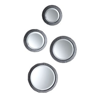 Round Tin Mirrored Plate (Set of 4/ Pack of 32)