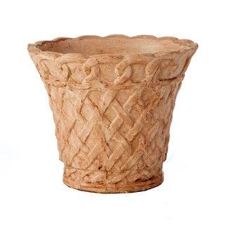 9-inch French Lattice Terra Cotta Pot