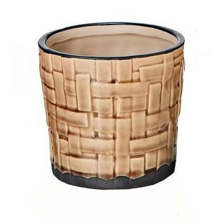 Ceramic Weave 5-inch x 4.75-inch Pot